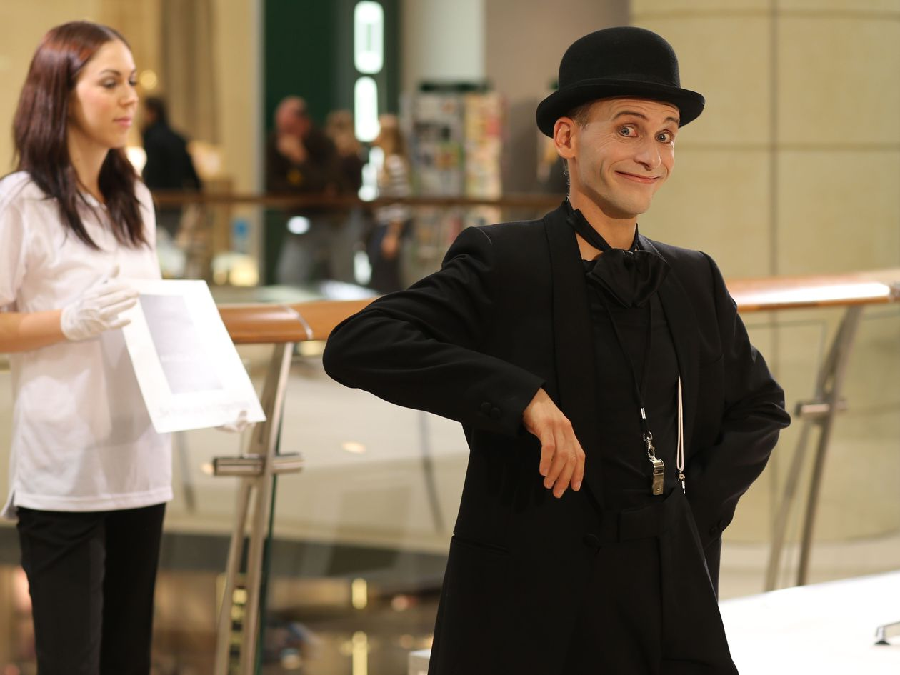 this talented mime artist has created a concept performance