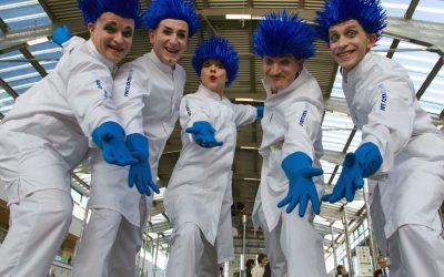 10 Jahre Pantomime in Blauweiß